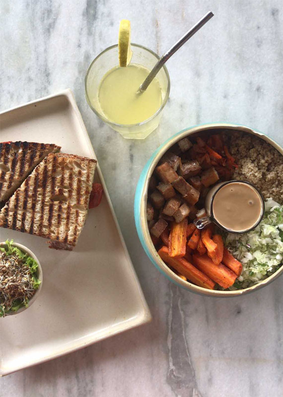 Provencal Sandwich and Miss Saigon Bowl